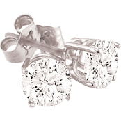 14K 1/4 CTW Round Diamond Stud Earrings