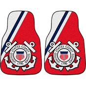 Fan Mats Coast Guard 2 Pc. Printed Car Mats