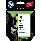HP 21/22 Black and Tri-Color Ink Cartridge Combo Pack
