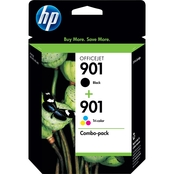 HP 901 Black and Tri Color Ink Cartridge Combo Pack