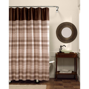 Maytex Blake Chenille Stripe Shower Curtain