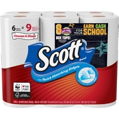 Scott Mega Roll Choose a Sheet Paper Towels 6 Pk.