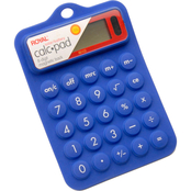 Royal Blue Dual Power Rubber Calculator