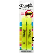 Sharpie Accent Tank Style Highlighter Fluorescent Yellow 2 pk.