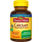 Nature Made Calcium Magnesium Zinc Tablet 100 ct.