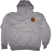 Military Logo Pullover Sweatshirt with Hood, Marines