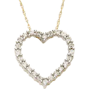 10K Yellow Gold 1/3 CTW Diamond Heart Pendant
