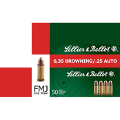 Sellier & Bellot .25 ACP 50 Gr. FMJ, 50 Rounds
