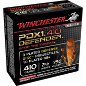 Winchester PDX1 Defender Buckshot 410 Ga. 2.5 In. 3 Defense Discs, 10 Rounds