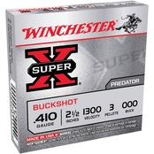 Winchester Super-X .410 Ga. 2.5 in. 000 Buckshot 3 Pellets, 5 Rounds