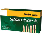 Sellier & Bellot .30-30 Win 150 Gr. Soft Point, 20 Rounds