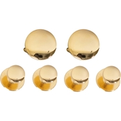 NAVY CUFF LINKS AND STUDS 24K GOLD (SET OF 4 STUDS)