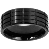 Black Ion Plated Stainless Steel 8mm Band