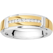 Expressions of Love Sterling Silver 1/10 CTW Diamond Wedding Band