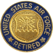 Air Force Lapel Button Retired Personnel Wear