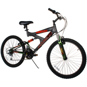 Magna Mens 24 in. Gauntlet Full Suspension Bicycle