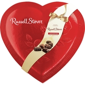 Russell Stover Assorted Chocolates Red Foil Heart
