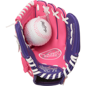 Rawlings Players Series 9 In. T-Ball Glove with Ball, Pink
