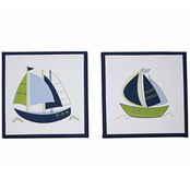 Nautica Kids Zachary Canvas Wall Art (Set of 2)