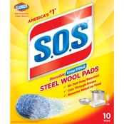 S.O.S. Steel Wool Soap Pads 10 Ct.