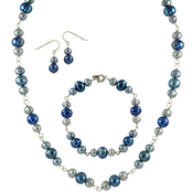 Dyed Cultured Freshwater Pearl 3 pc. Set