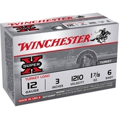 Winchester Super-X Turkey 12 Ga. 3 in. #6 1.875 oz. Shotshell, 10 Rounds