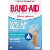 Band-Aid Brand Adhesive Bandages Water Block Plus Clear Assorted 30 Pk.