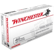 Winchester USA .40 S&W 180 Gr. Jacketed Hollow Point, 50 Rounds
