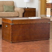 SEI Steamer Trunk Cocktail Table