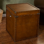 SEI Steamer Trunk End Table