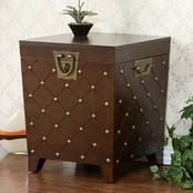 SEI Nailhead Trunk End Table