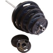 CAP Barbell 300 lb. Olympic Rubber-Grip Plate Set