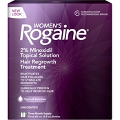 Rogaine Women's Topical Solution Hair Regrowth Treatment 3 Month Supply