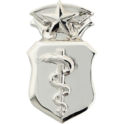 Air Force Master Physician Badge Non-Subdued, Pin-on, Regular Size