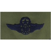 Air Force Bio-Med Officer Senior Embroidered Sew-On Badge