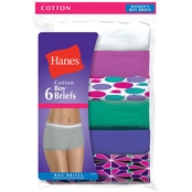 Hanes Assorted Cotton Boy Briefs, 6 Pk.