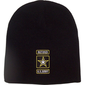 Military Retired Insignia Knit Hat