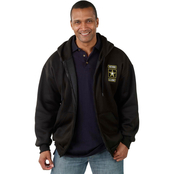 Retired Army Hooded Zip Sweat Shirt
