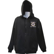 Retired Military Hooded Zip Sweat Shirt, USAF