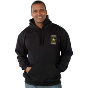 Retired U.S. Army Military Logo Pullover Sweatshirt with Hood