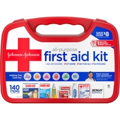Johnson & Johnson Red Cross All Purpose First Aid Kit, 140 Pc.