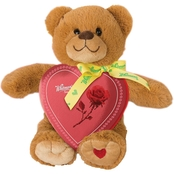 Whitman's 3.25 Oz. Assorted Chocolate Sampler Heart with Plush Bear