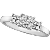 Expressions of Love 14K White Gold 1/2 CTW Diamond Engagement Ring, Size 7