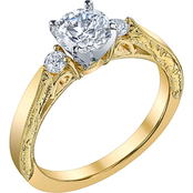 14K Yellow Gold 1 1/6 CTW Briana Diamond Engagement Ring, Size 7