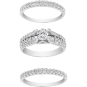 14K White Gold 1/3 CTW Cindy Wedding Band, Size 7