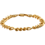 Yellow Ion Plated Stainless Steel Figaro Bracelet