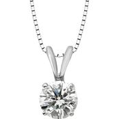 14K White Gold 1/2 ct. Diamond Solitaire Pendant