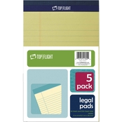 Top Flight 5 x 8 in. Canary Legal Pad 5 pk.
