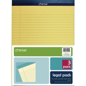 Top Flight 8.5 x 11 in. Canary Legal Pads 3 pk.