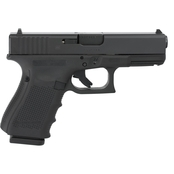 Glock 19 Gen 4 9MM 4.02 in. Barrel 15 Rds 3-Mags Pistol Black